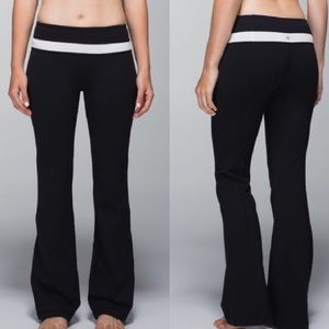 Lululemon Groove Pant In Solid Gray stripe Size 4